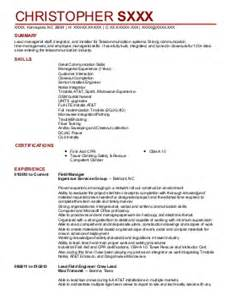 Telecom Installer Cover Letter by Field Installation Resume Exles Telecommunications And Wireless Resumes Livecareer