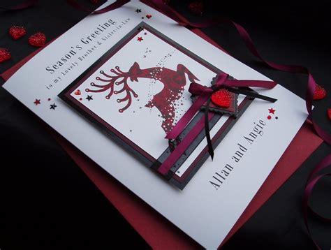 Luxury Cards Handmade - handmade card reindeer handmade cards pink posh