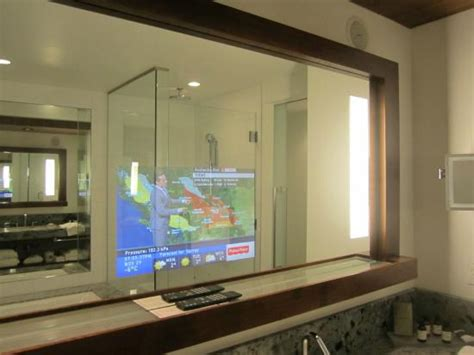 tv for bathrooms reviews tv quot inside quot bathroom mirror picture of fairmont pacific