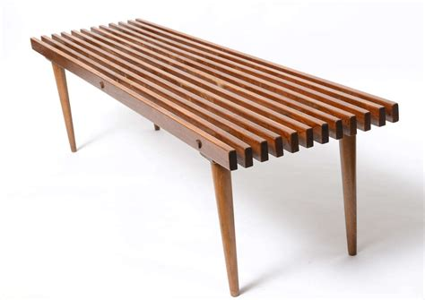 slatted benches george nelson slatted wood bench coffee table at 1stdibs