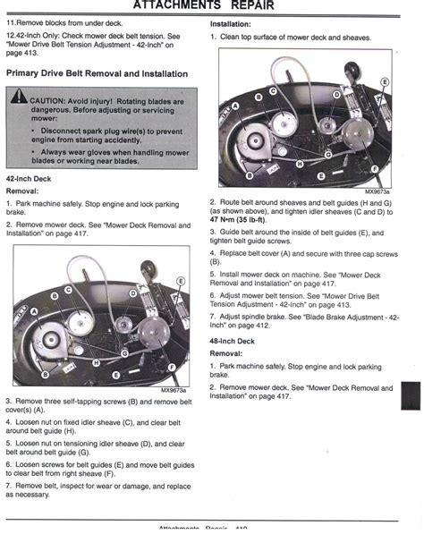 l100 belt diagram deere l100 lawn mower belt came need diagram of pulley