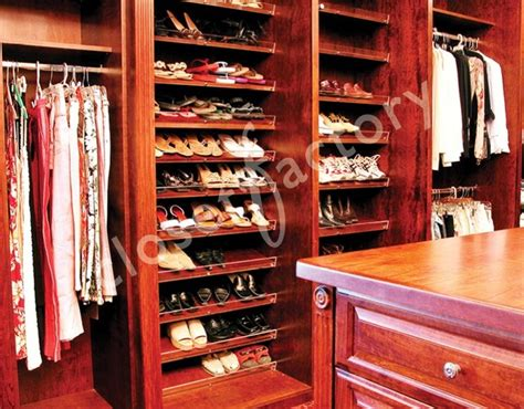 Cherry Wood Closet Organizer by Cherry Master Walk In Closet Traditional Closet