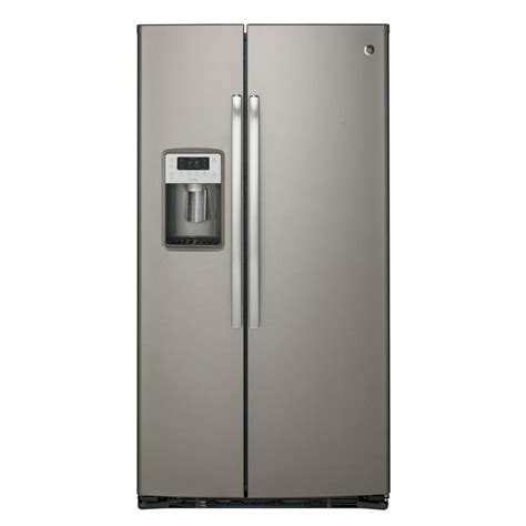Ge Profile Refrigerator Cabinet Depth by Ge Profile 21 9 Cu Ft Side By Side Refrigerator In Slate