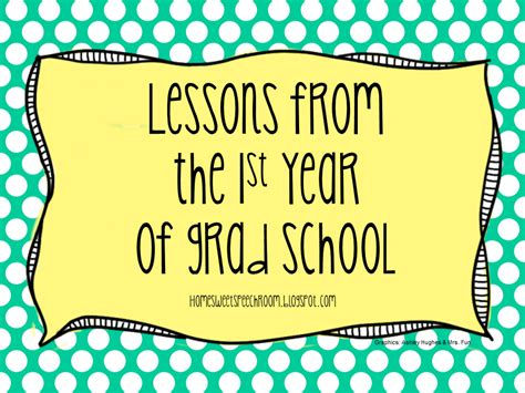 lessons from the 1st year of graduate school
