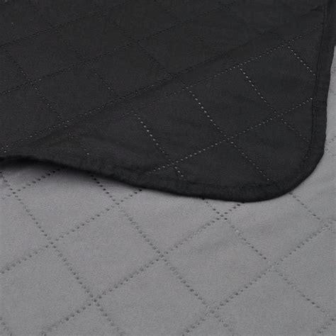 copriletto nero copriletto reversibile nero grigio 170 x 210 cm vidaxl it