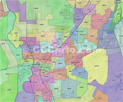 sacramento ca map sacramento zip codes citrus heights zip code boundary map