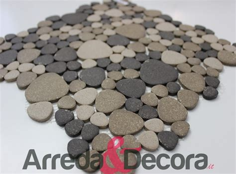 piatti doccia 60x60 mosaico a ciottoli in ceramica non smaltato antiscivolo