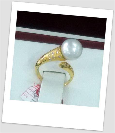 Promo Gelang Mutiara Lombok Murah 1 handmade gold ring with south sea pearl ctr 072 harga mutiara lombok perhiasan toko emas