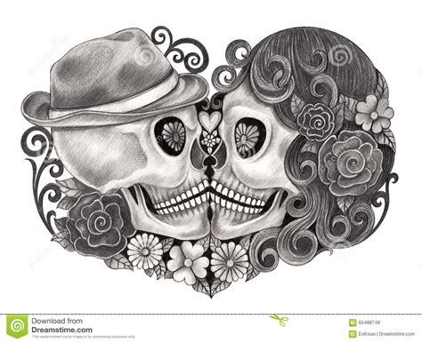 Dead Wedding Animation by Skull Day Of The Dead Stock Illustration Image