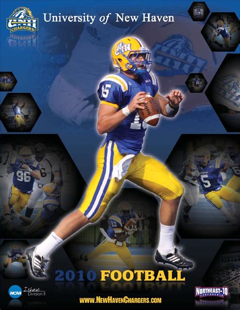unh chargers football 2010 new football media guide by new chargers