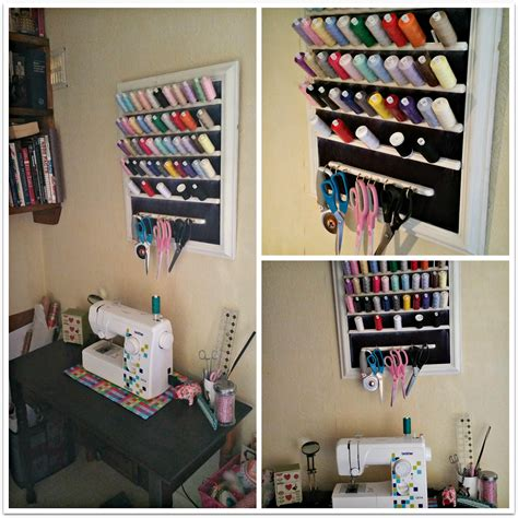 diy room storage sewing room storage diy thread and scissor organiser