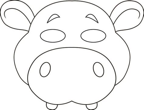 printable animal masks to color animal masks to print and colour coloring page purse