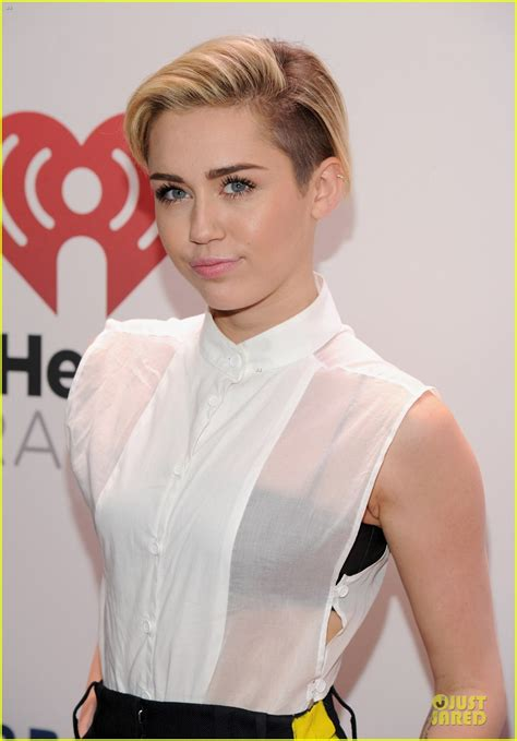 Miley Top miley cyrus sheer top at z100 s jingle photo