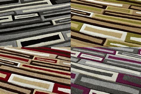 block design effect stylish modern matrix brick effect rug machine made