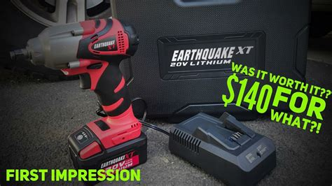 earthquake xt cordless impact review harbor freight earthquake xt 3 8 cordless impact first