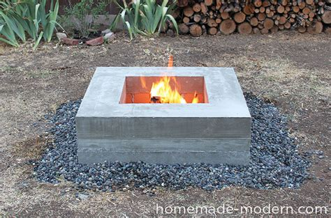 Homemade Modern Ep46 Concrete Fire Pit Concrete Firepit