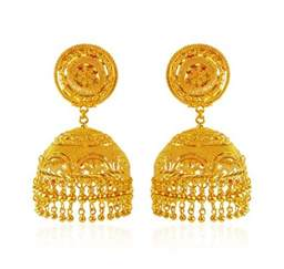 gold jhumka earrings design with price earrings designs in gold jhumka with weight layered gold
