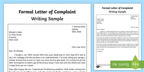 letter layout twinkl formal letter of complaint writing sle english writing