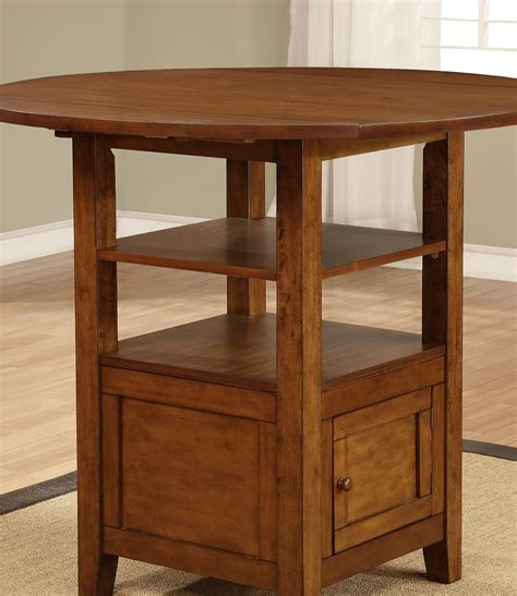 Drop Leaf Counter Height Table Coaster Home 105408 Stockton Drop Leaf Counter Height Table With Storage Coah 105408
