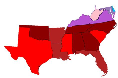 map of usa southern states file map of southern state legislatures and governors