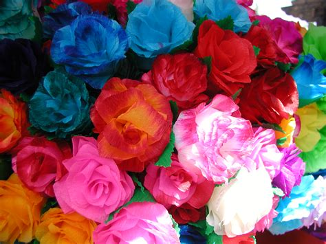 Mexican Paper Flowers - paper flowers that smell like the real deal flower