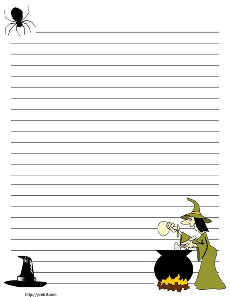 spooky writing paper stationary with lines scary regular
