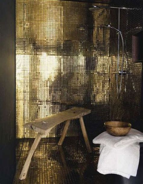 gold bathroom tile 31 shiny black bathroom tiles ideas and pictures