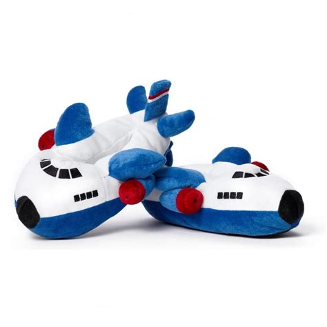 childrens bedroom slippers boeing childrens plush blue aeroplane slippers