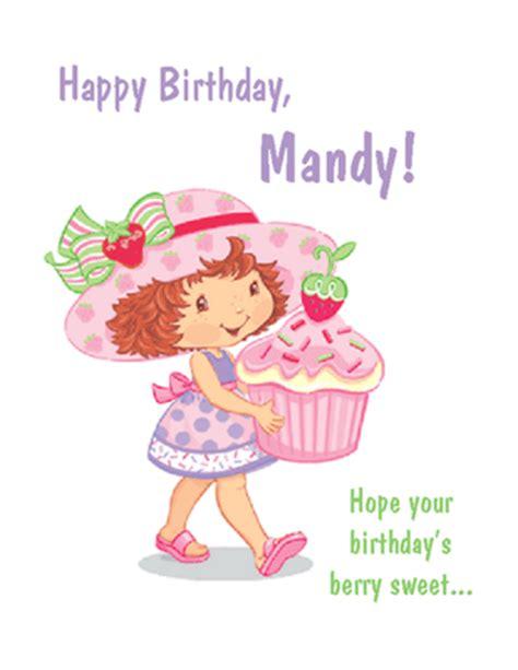 Sweet Happy Birthday Wishes Berry Sweet Birthday Greeting Card Happy Birthday