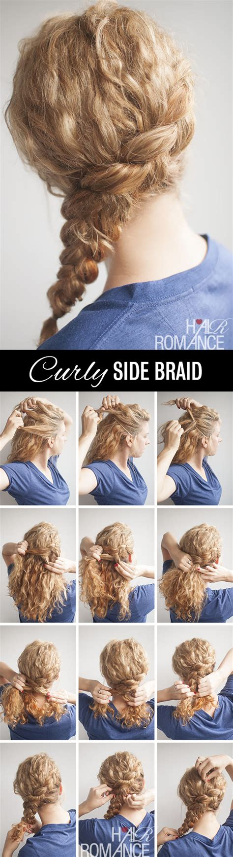 hairstyles with curls and braids step by step diy side hairstyle step by step tutorials diy ideas tips