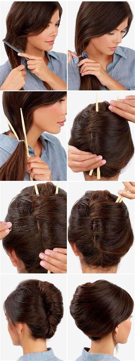 plaiting hair using chopsticks the 25 best french bun ideas on pinterest cute everyday