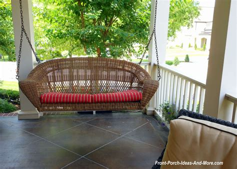 wicker patio swing wicker porch swings always refined reminiscent and romantic