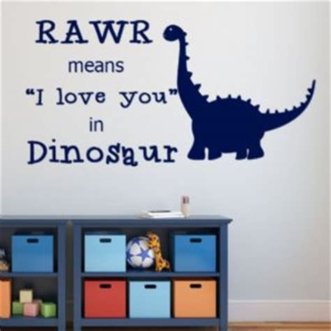 Sticker Wallpaper I Loved You rawr means i you in dinosaur wall sticker decals