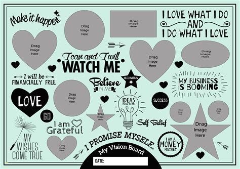 60 best images about mind maps vision boards awesome vision board template best sle excellent