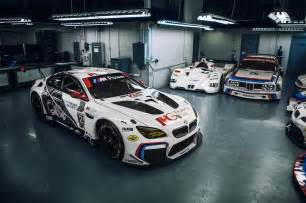 bmw reveals m6 gtlm anniversary liveries before rolex 24