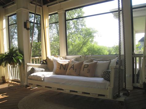 swing in the house beautiful porch swing cushions in porch shabby chic with