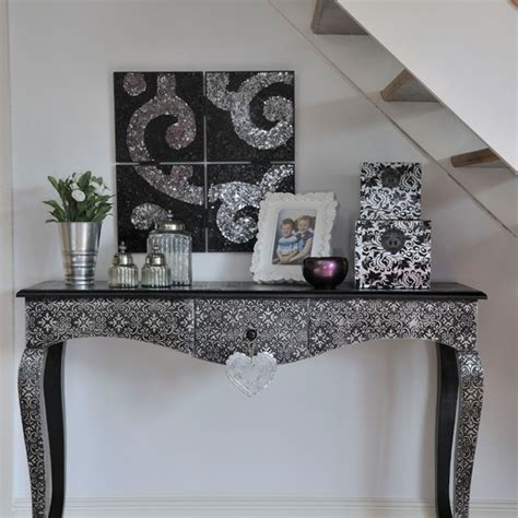 Hallway Table Decor Silver Console Table In Hallway Housetohome Co Uk