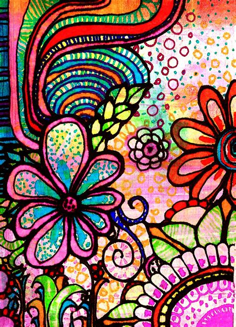 doodlebug painting 278 best doodle flowers images on