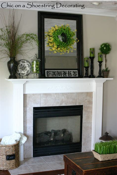mantel decor chic on a shoestring decorating some summer decor
