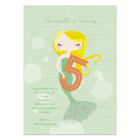 5th birthday invitation card template mermaid 5th birthday invitation invitations cards on