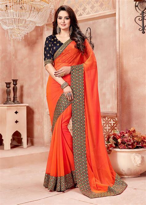 simple  saree designs   images
