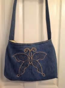 Handmade Denim Purses - upcycled recycled repurposed denim purse bag handmade