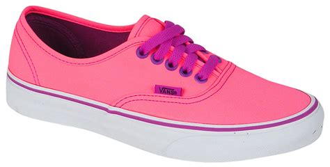 vans authentic shoe neon pink purple for sale at