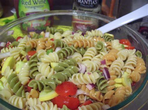 pasta salad with rotini rotini pasta salad w italian dressing summer squash