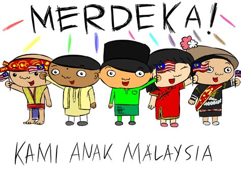 wallpaper cartoon malaysia merdeka by fzak on deviantart