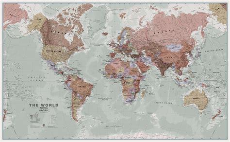 world map wall executive world wall map political