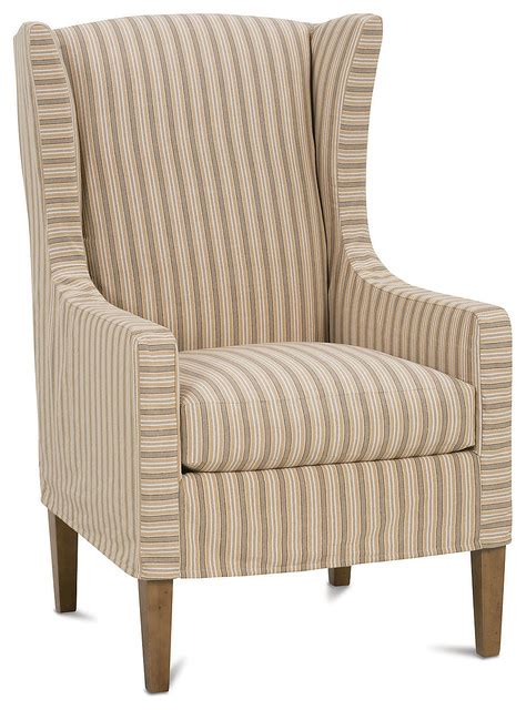 wingback chair straw stripe contemporary