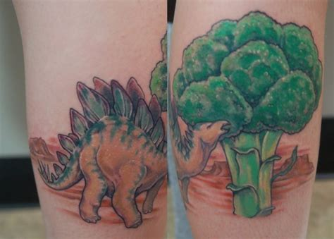 broccoli tattoo broccoli stegosaurus tattoos