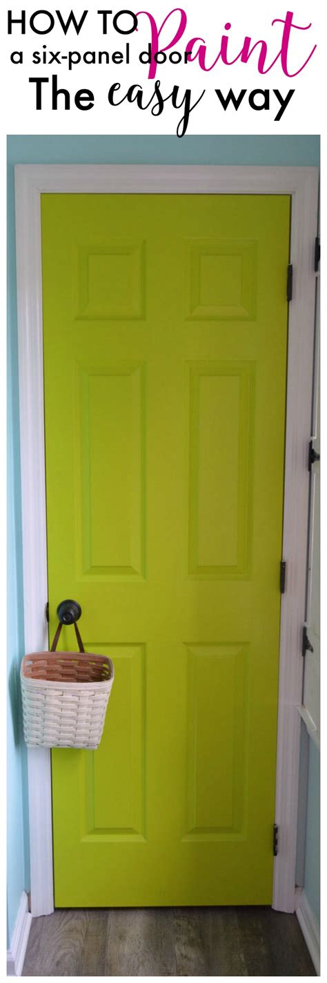 how to paint how to paint a six panel door create and babble