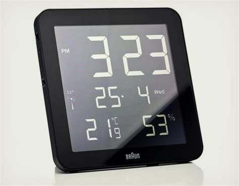 wall clock digital braun digital wall clock cool material